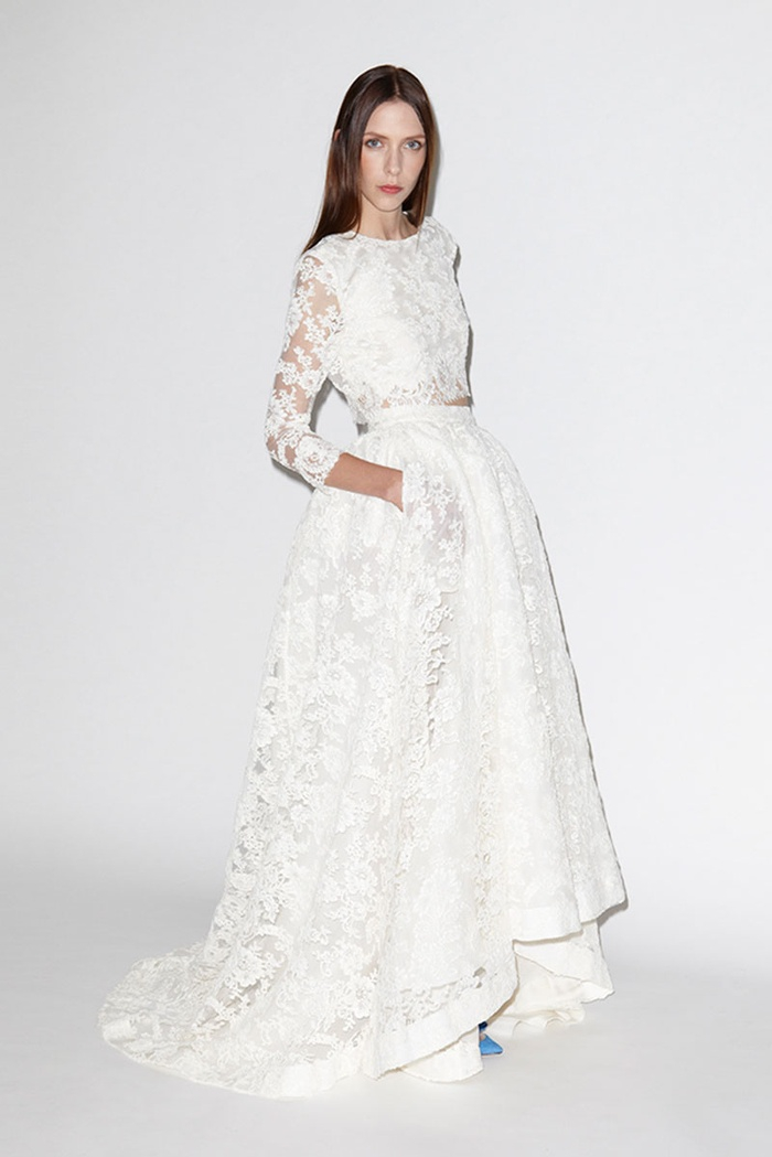 22 Super Stylish Two-Piece Wedding Dresses