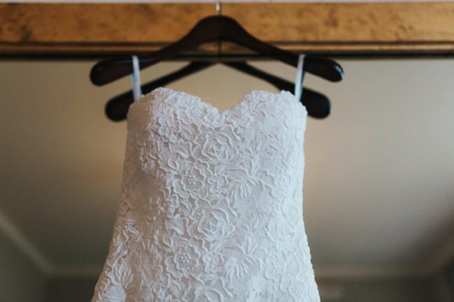 Oscar de la Renta, Floral guipure lace column gown