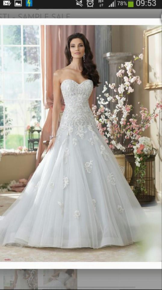 David Tutera Dt Kriststi 214212 Dropped Waist Handbead Embrd La Wedding Dress On Sale 48 Off