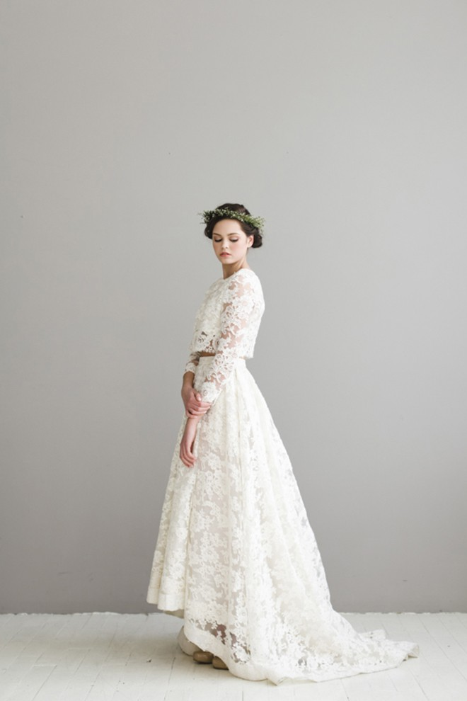Houghton Bordeaux Two Piece Wedding Dress