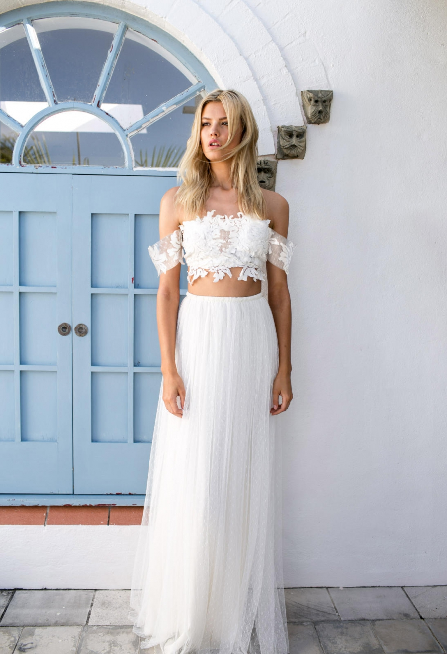22 super stylish two piece wedding dresses grace loves lace dre two piece dress junglespirit Choice Image