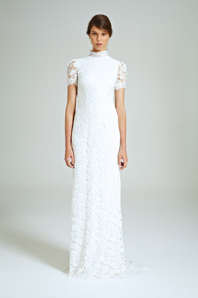 Collette Dinnigan Snowflakes Vee Back Gown New Wedding