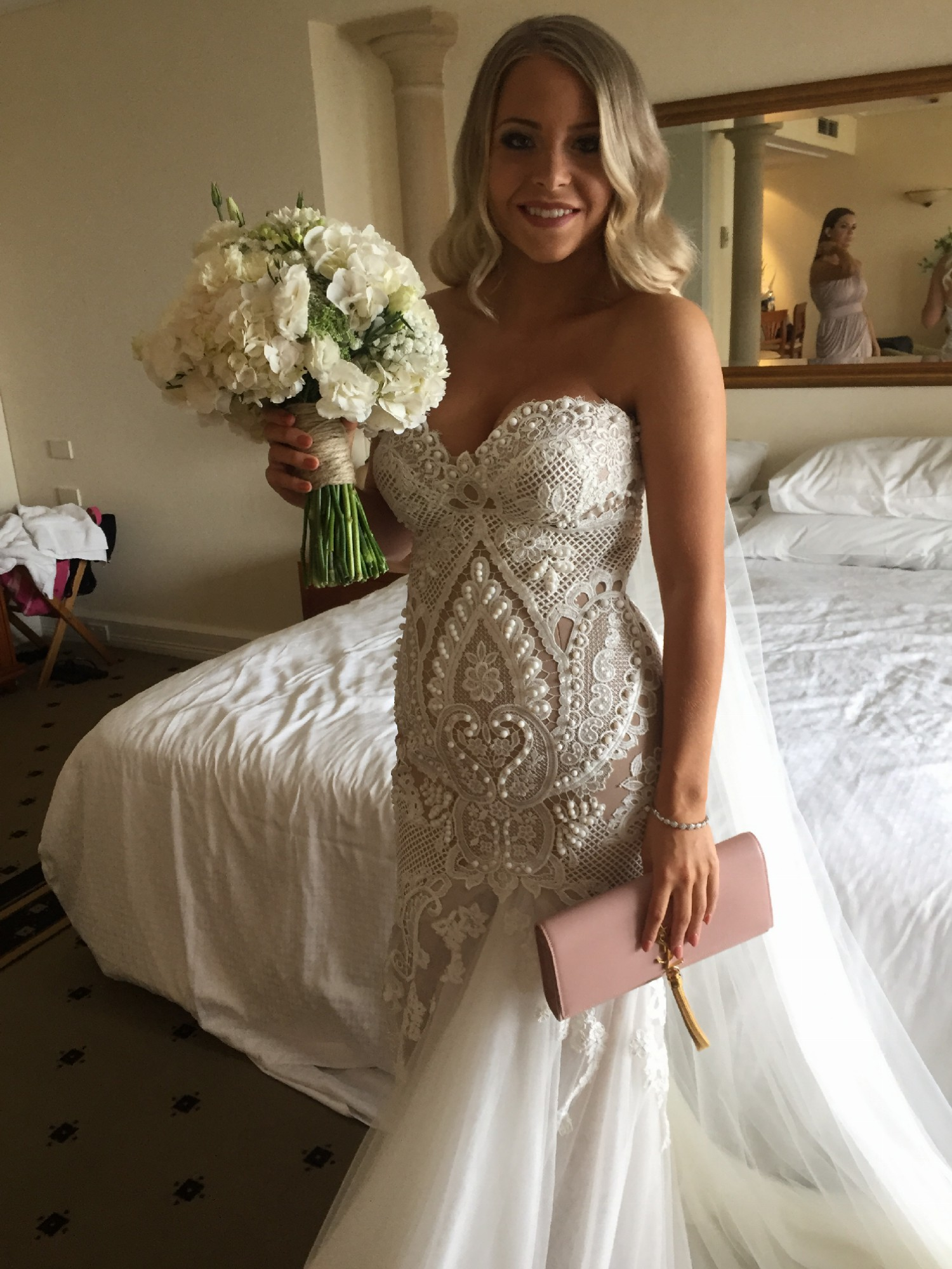 Leah da gloria customized emily gown used wedding dress on for Leah da gloria wedding dress cost