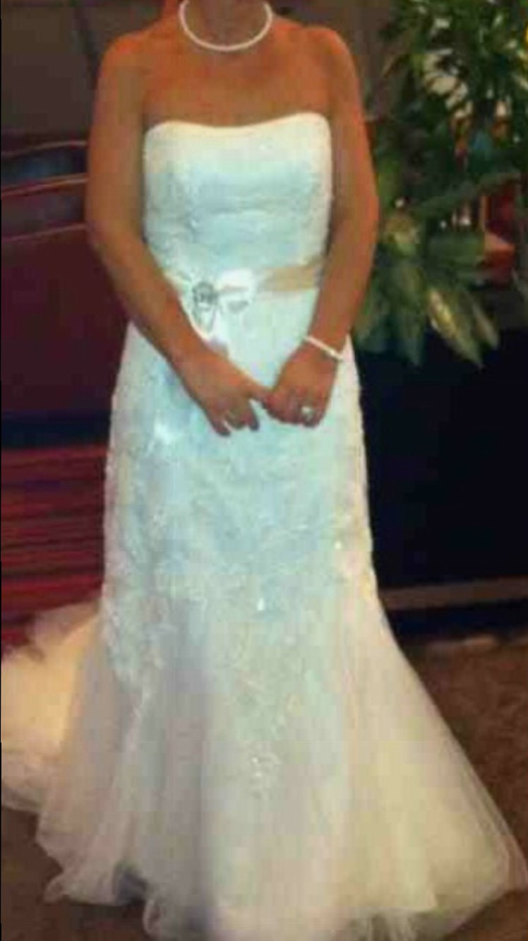 Rosetta nicolini francine preowned wedding dress on sale for Where can i get my wedding dress steamed