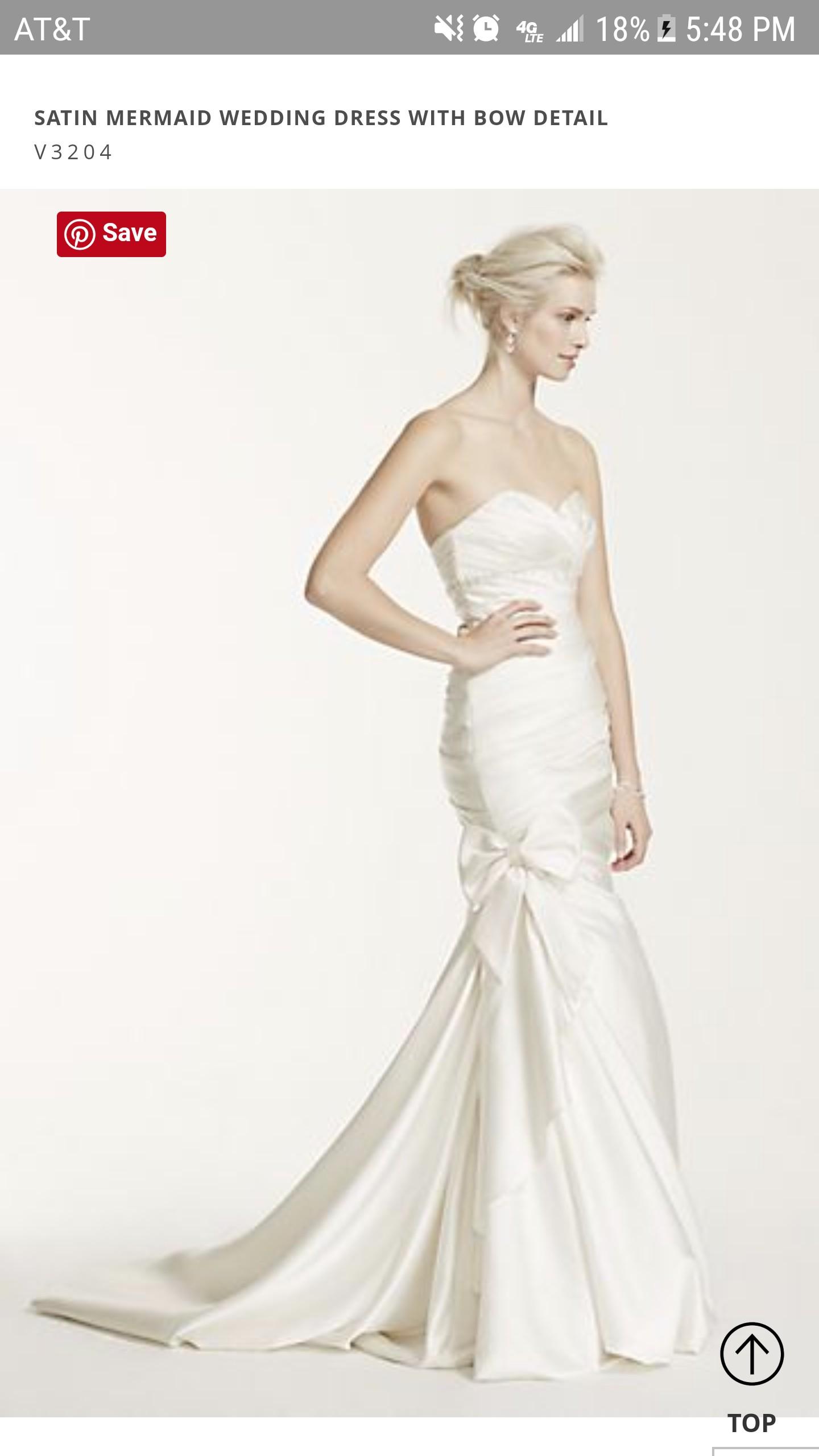 David 39 s bridal v3204 wedding dress on sale 27 off for Wedding dress alterations cost david s bridal