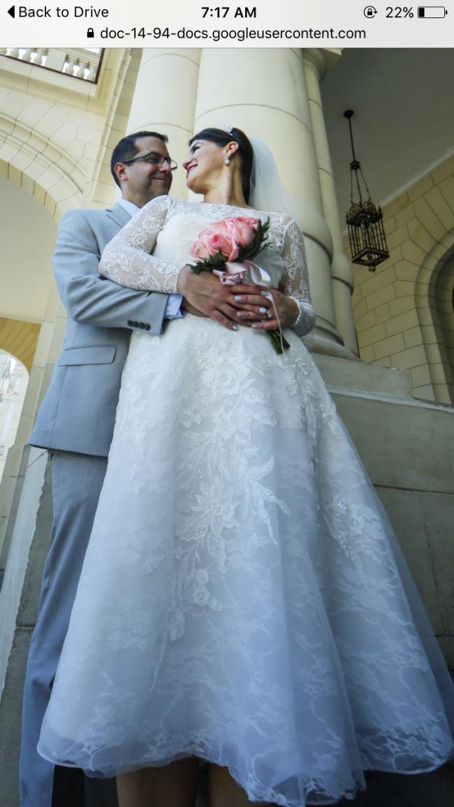 Oleg Cassini Cwg663 Used Wedding Dress On Sale 61 Off Stillwhite