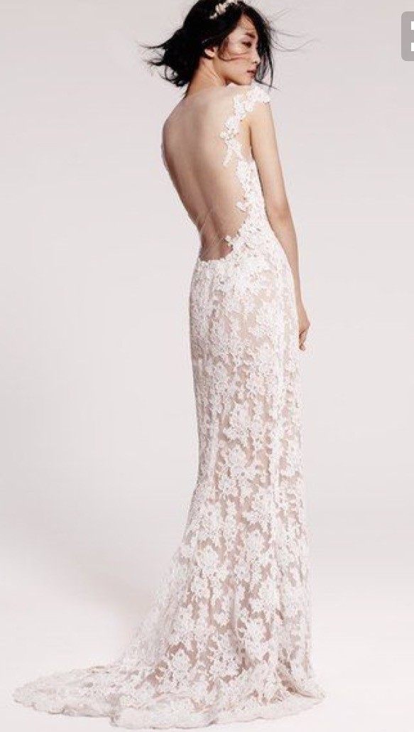 Reem Acra Evie gown Used Wedding Dress on Sale 79% Off - Stillwhite