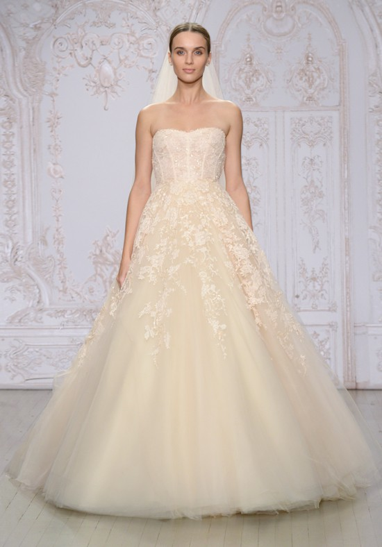 Monique Lhuillier Paradise PreOwned Wedding Dress on Sale 76% Off