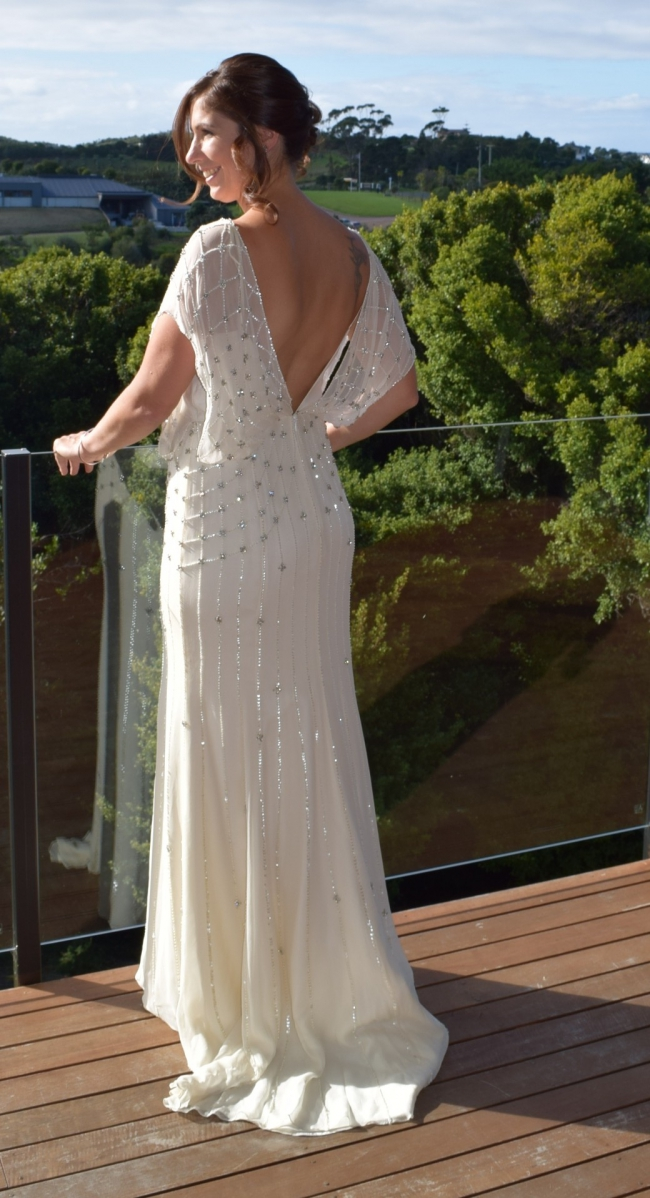 Jenny packham bardot second hand wedding dress on sale 58 off for Second hand jenny packham wedding dress