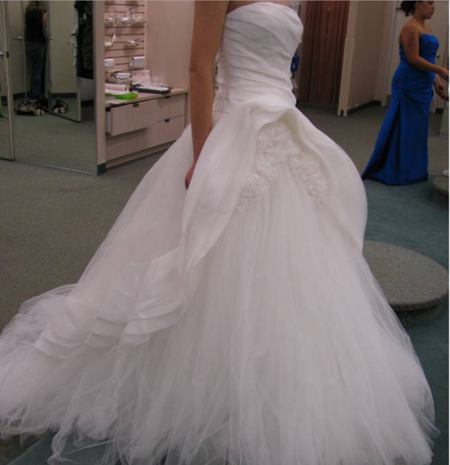 Wedding Gown Canada: Vera Wang Used Wedding Dress On Sale 75% Off