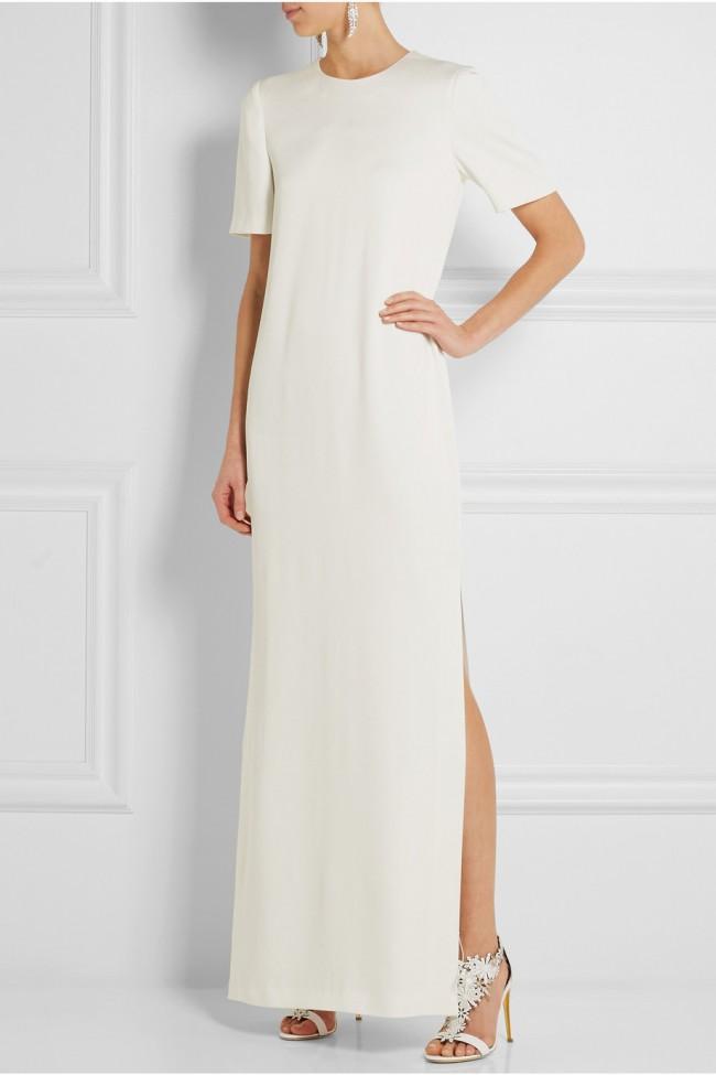 Alexander mcqueen satin crepe gown new wedding dress on for Alexander mcqueen wedding dresses price