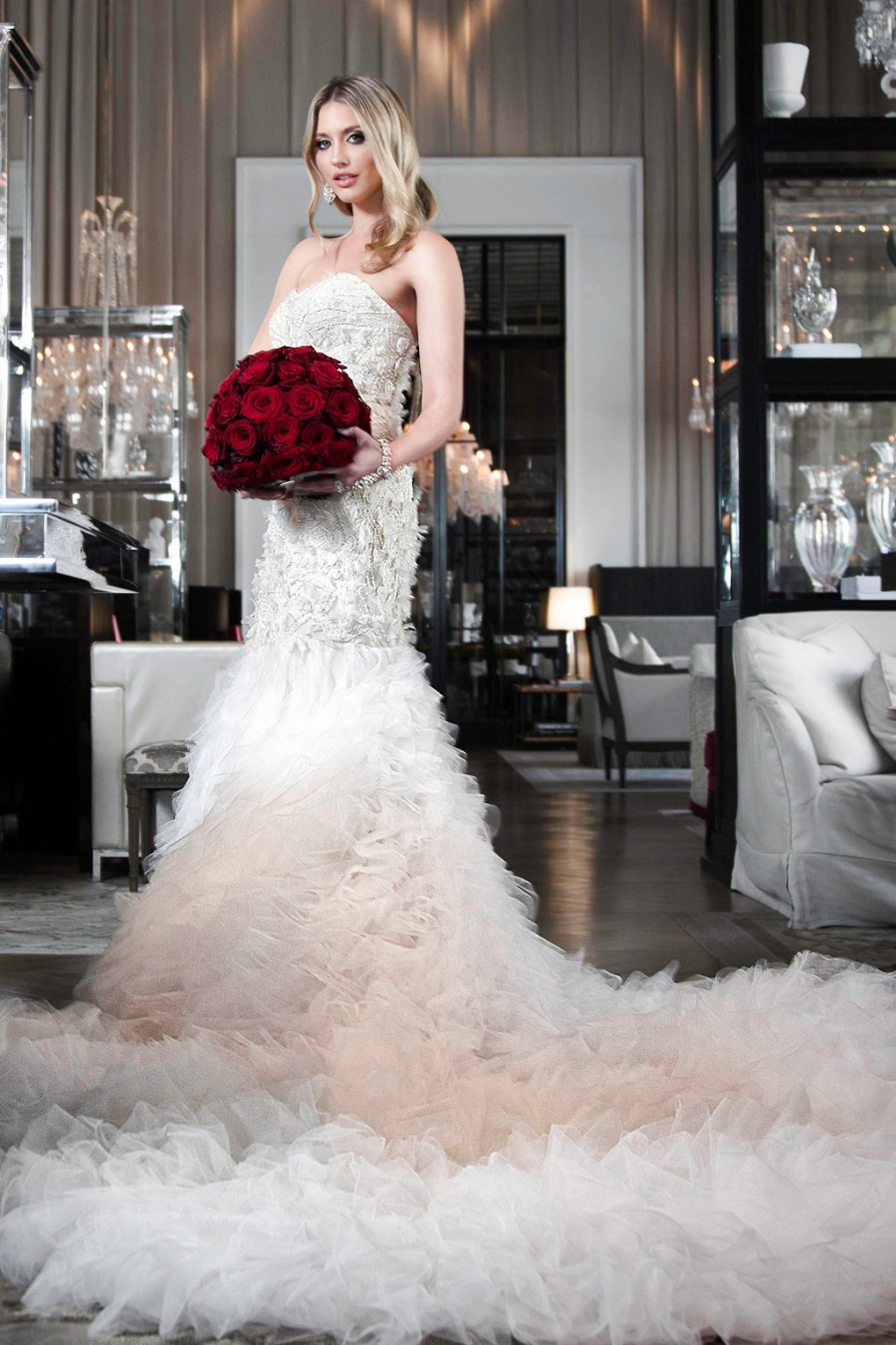 Contemporary Wedding Gowns With Dramatic Trains