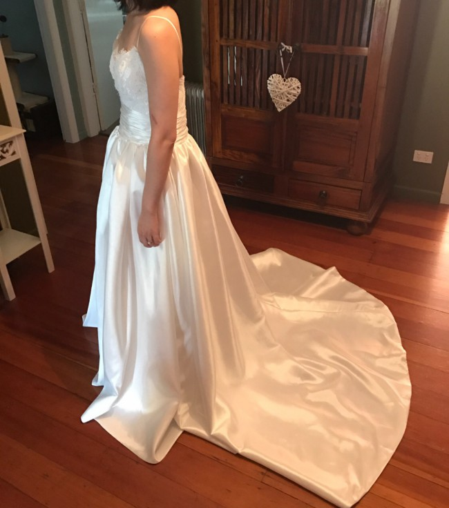 The Faded Sunflower Amsale Coco Wedding Dress