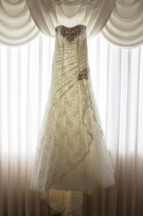 Designer Wedding Dress With Front Split Elie Saab