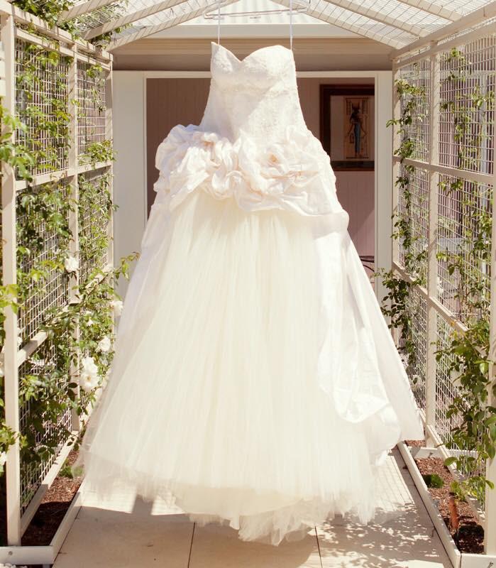 Strictly bridal custom made second hand wedding dress on for Julian alexander wedding dresses