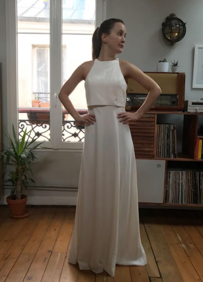 Jill Jill Stuart Iva Crepe Maxi - New Wedding Dresses - Stillwhite