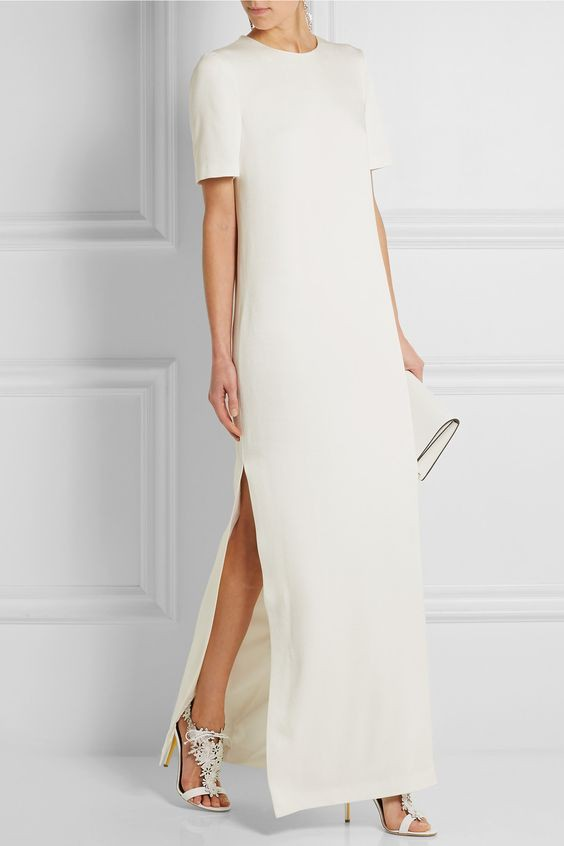 Alexander McQueen Satin Crepe Gown - New Wedding Dresses - Stillwhite