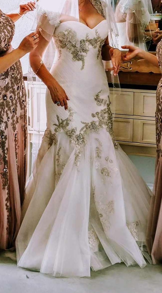 Enzoani Jade Size 8 Wedding Dress