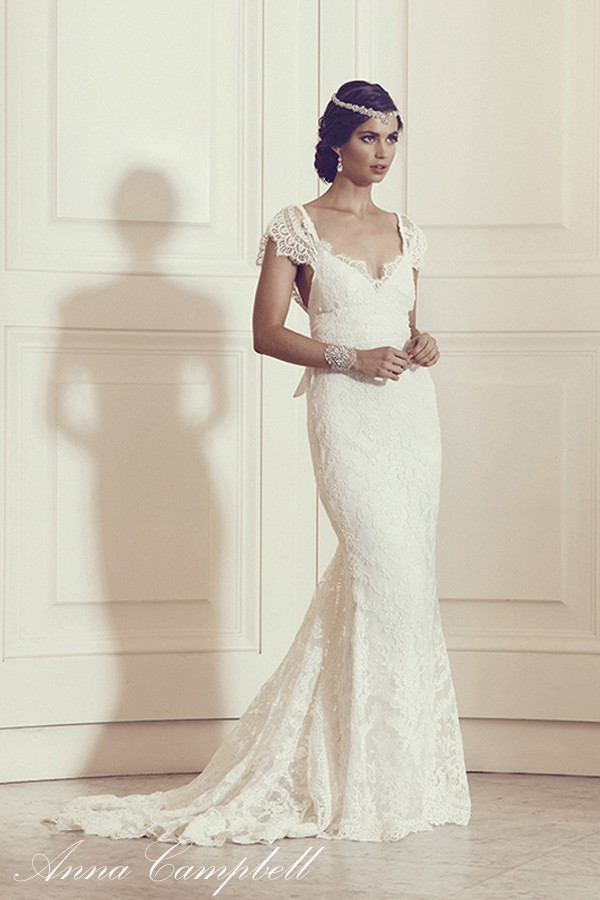 Anna campbell thalia fit and flare lace second hand for Anna campbell wedding dress for sale