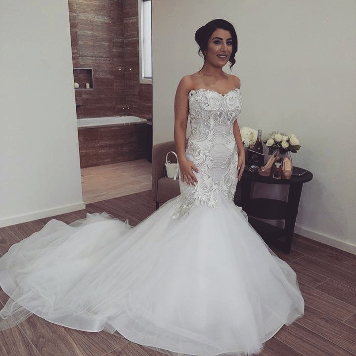 Norma Bridal Couture Custom Made Used Wedding Dress On