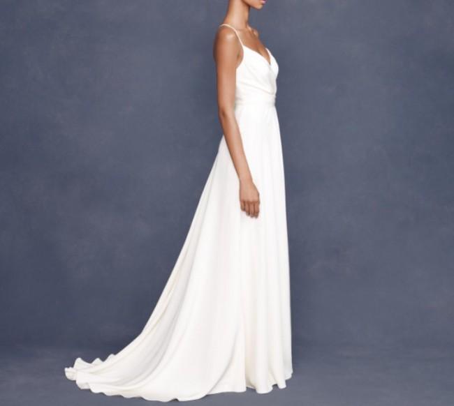 J Crew Silk Tricotine goddess gown - Used Wedding Dresses - Stillwhite