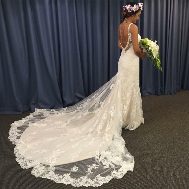 Martina Liana 744 Used Wedding Dress On Sale 41% Off