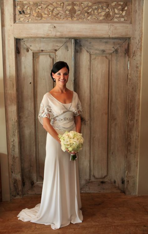 Temperley london jean gown second hand wedding dress on for Temperley wedding dress sale