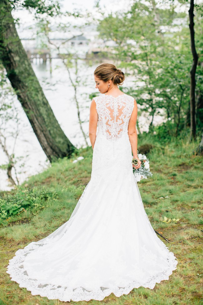 Maggie Sottero, Ivory Over Ivory Lace Melaine Modern Dress