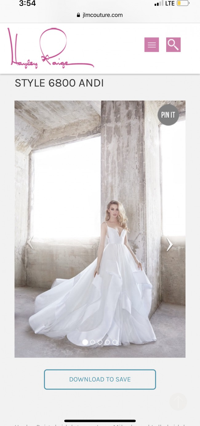 Hayley Paige Andi Preowned Wedding Dress On Sale 48 Off