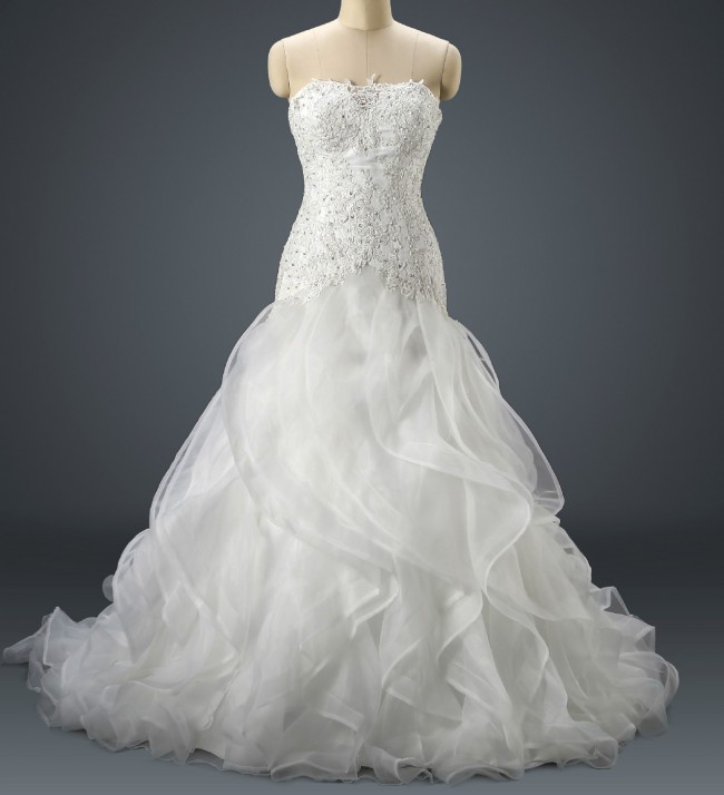 Isabella Couture, Organza ball gown with ruffled skirt