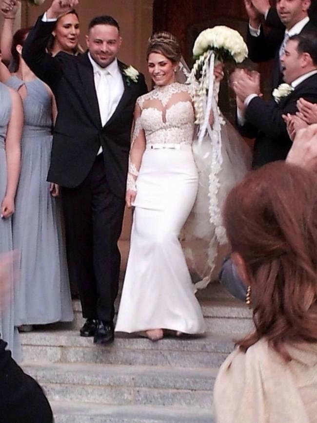 Berta Lace Sleeve Wedding Dress On Sale 41 Off