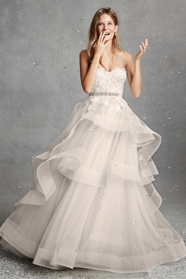Monique Lhuillier Bliss BL1518 Used Wedding Dress on Sale 69% Off ...