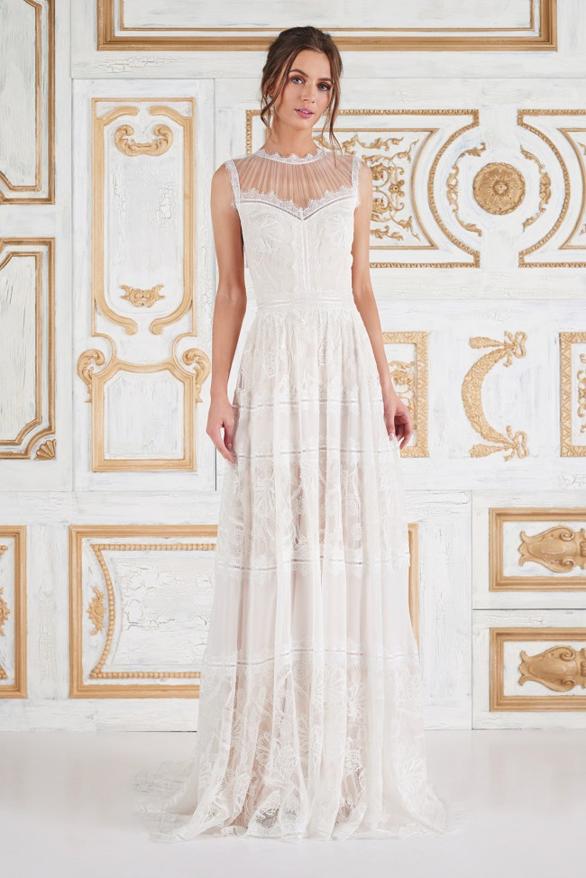 Tadashi Shoji Floretta Gown New Wedding Dress on Sale 46% Off