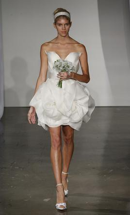 Marchesa, Sculptural strapless dress