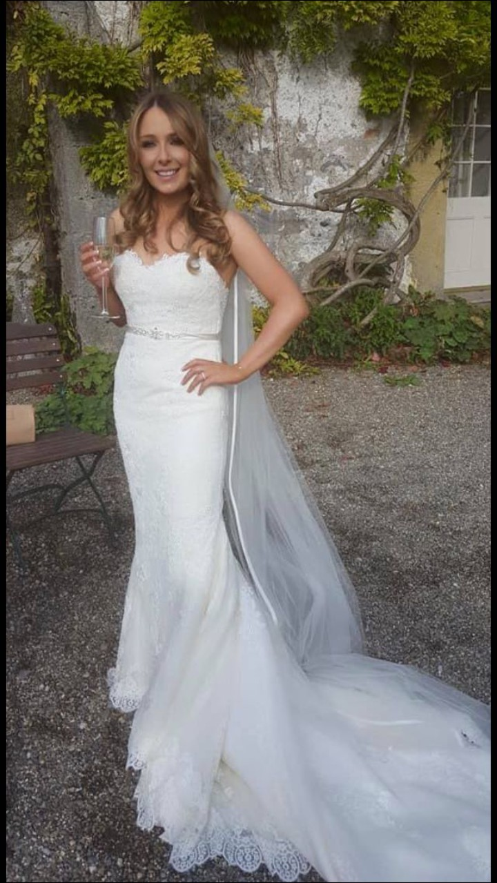 Pronovias princia pre owned wedding dress on sale 62 off for Wedding dress for 5ft bride