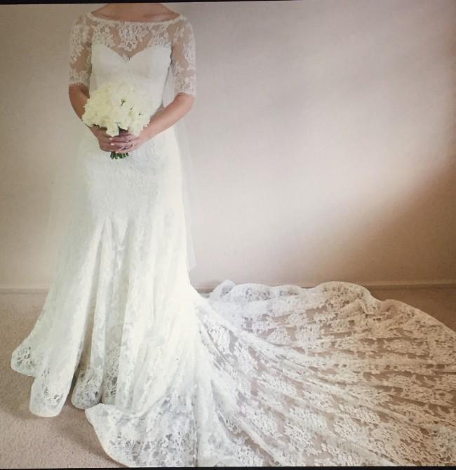 Marietta haddad custom made pre owned wedding dress on for Wedding dresses marietta ga