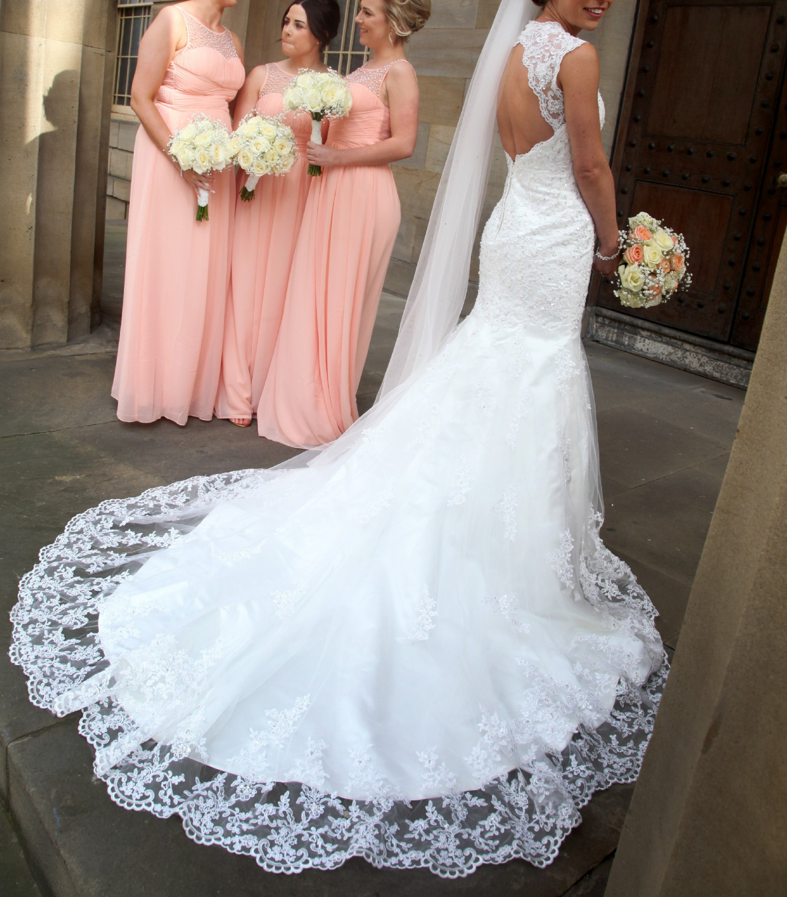 Viva bride mimosa used wedding dress on sale for White fishtail wedding dress
