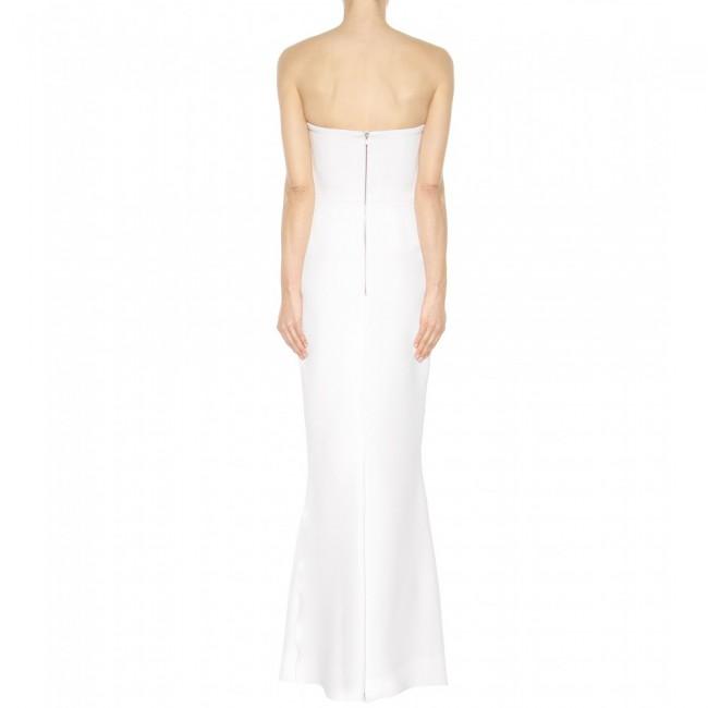 White Wedding Dress Victoria: Victoria Beckham White Crepe Dress New Wedding Dress On