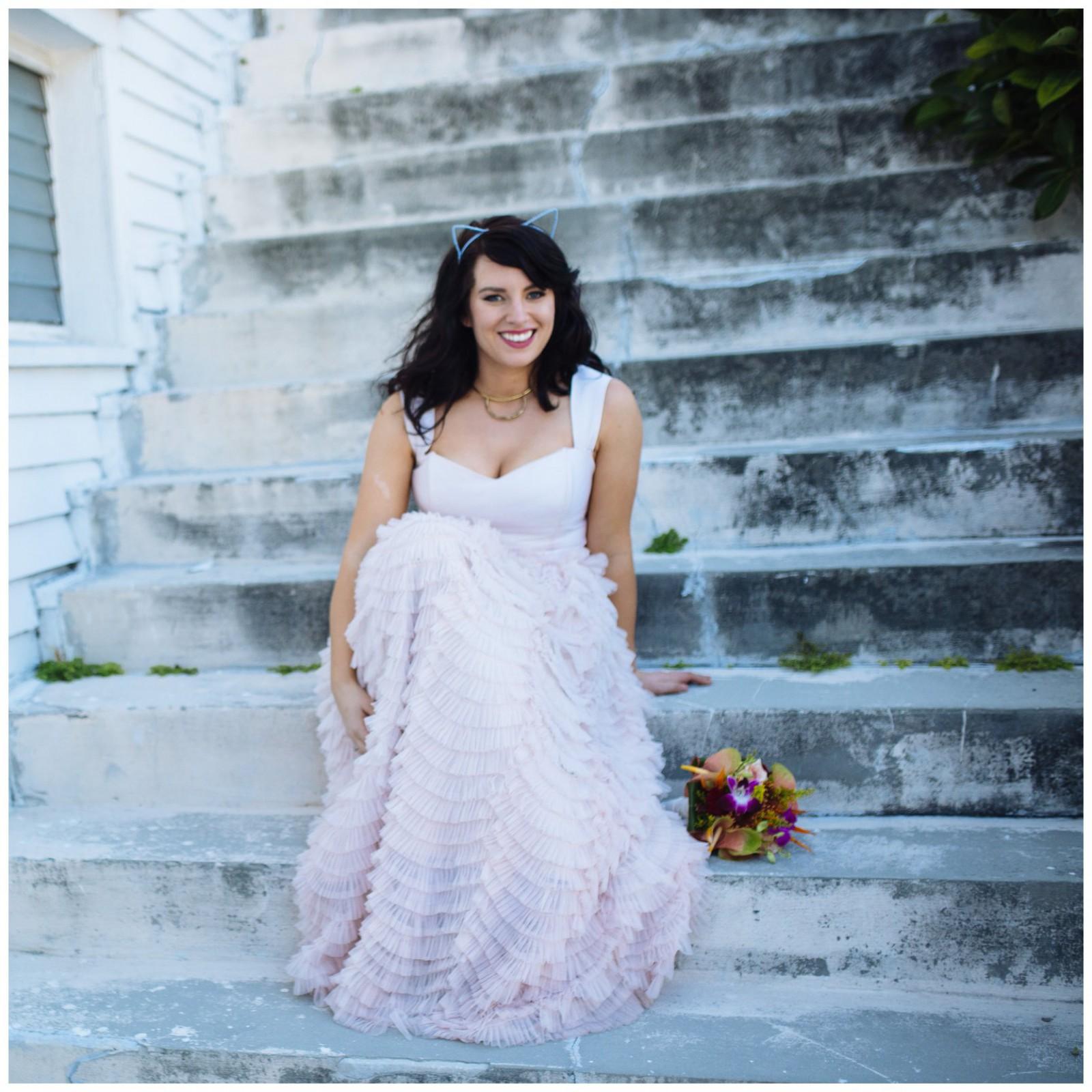 Elizabeth dye tea blush sample wedding dress on sale 54 off for Wedding dress sample sale san francisco