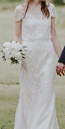 BHLDN Aurora Size 4 Wedding Dress