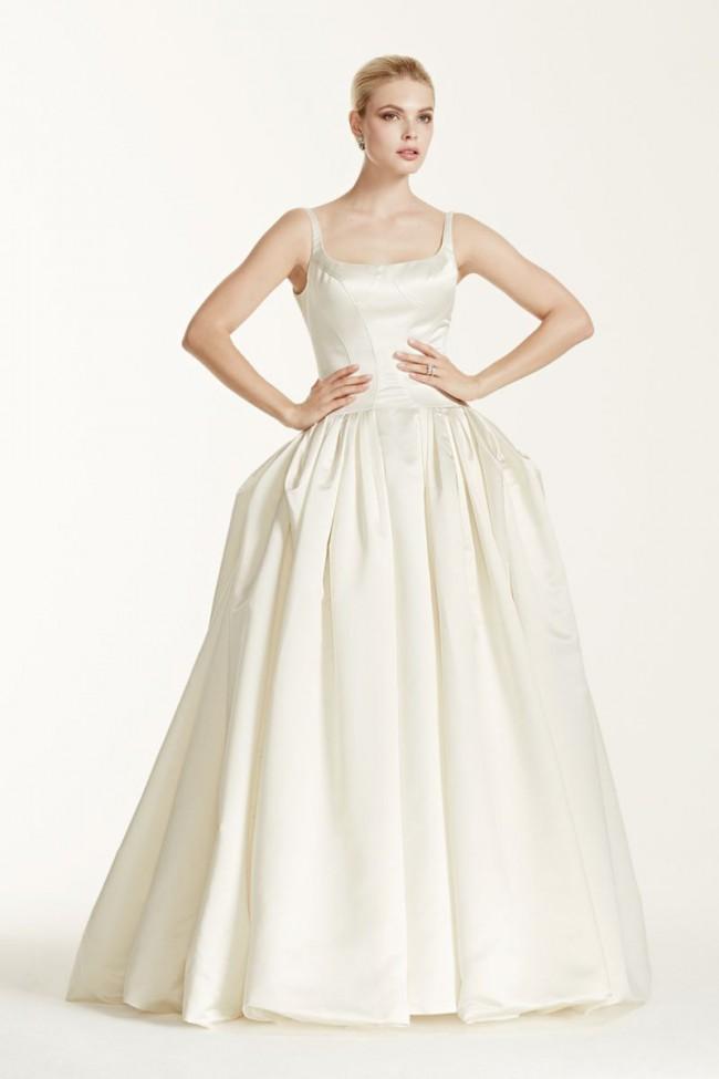 Truly Zac Posen, Satin Wedding Dress with Pleating