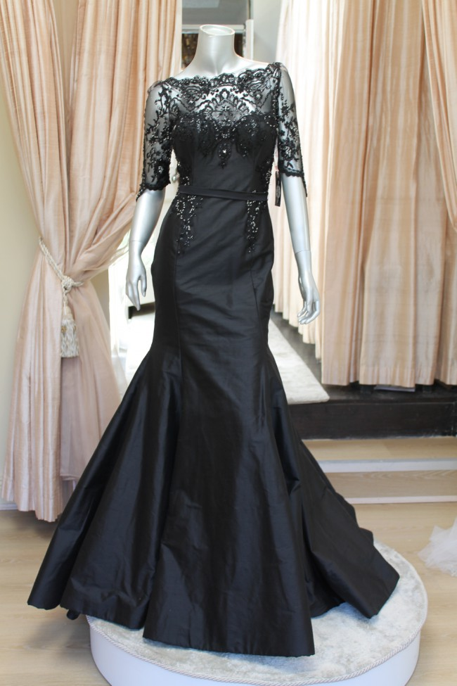 Rosalynn win haute couture one off evening gown sample for Haute couture dress price