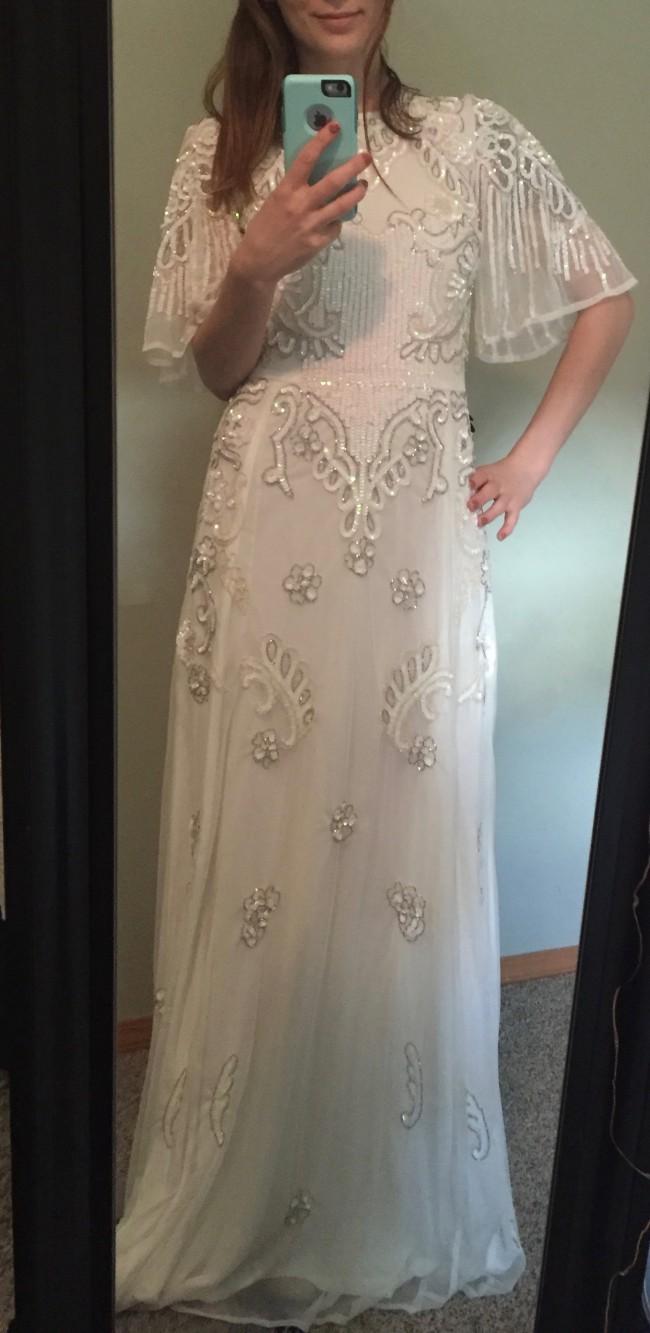 ASOS Bridal Flutter Sleeve Maxi Dress New Wedding Dress On Sale - Flutter Sleeve Wedding Dress