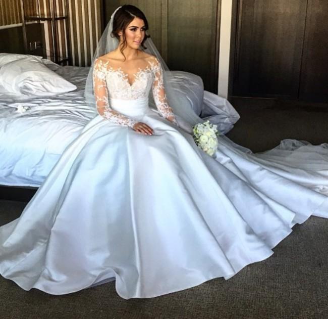 Steven Khalil Custom Made 2 piece dress PreOwned Wedding Dress on Sale