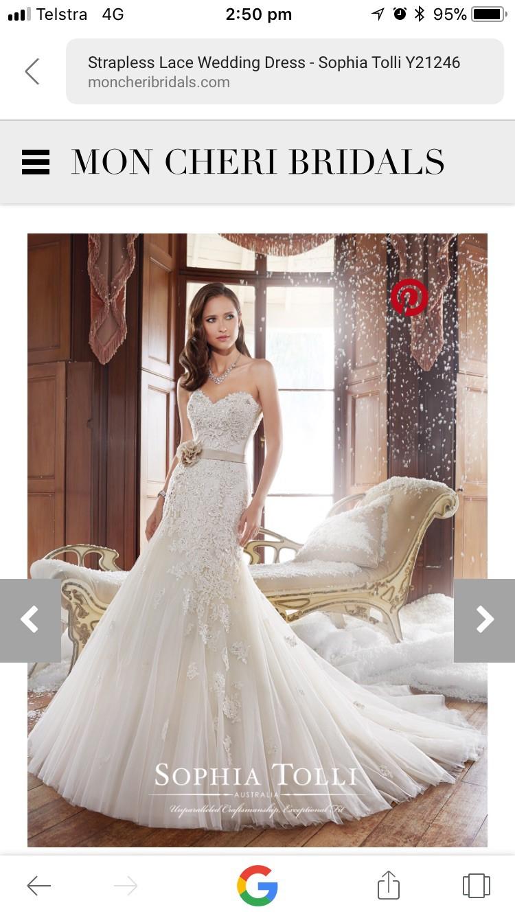 Sophia Tolli Used Wedding Dress On Sale Stillwhite