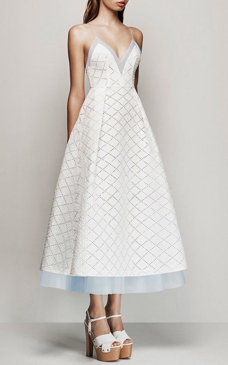 alex perry kiyanna broderie midi dress used wedding dresses stillwhite. Black Bedroom Furniture Sets. Home Design Ideas