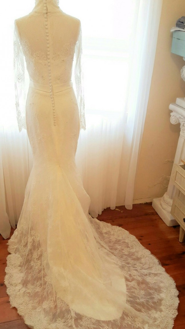 True Love Bridal Long sleeve French lace Wedding Dress on Sale 89% Off