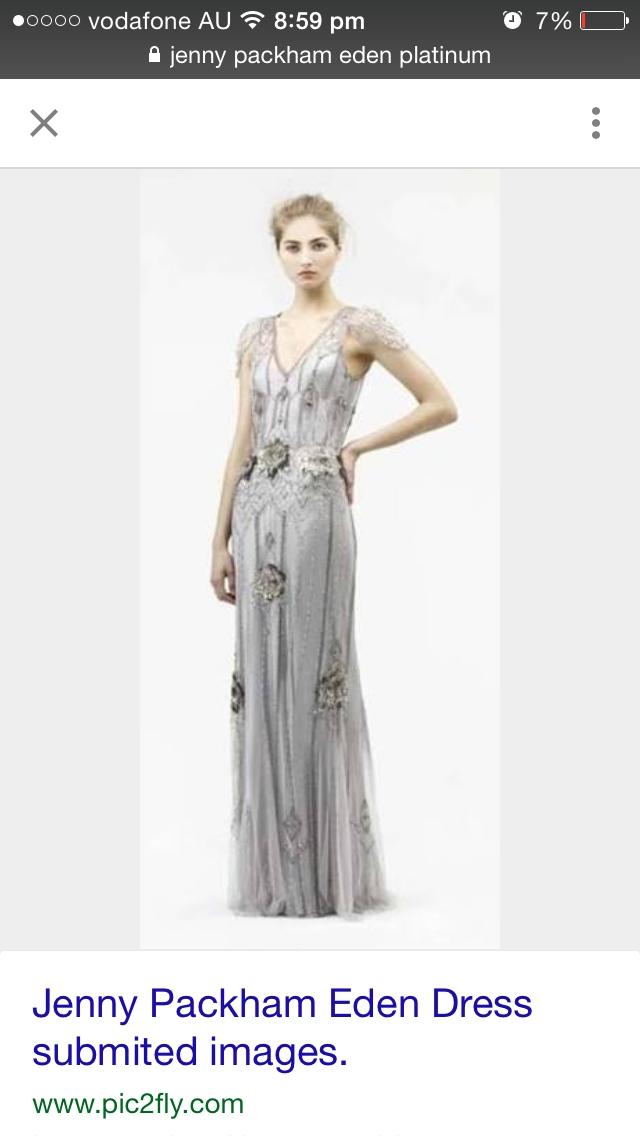 Jenny Packham Eden platinum Second Hand Wedding Dress on Sale 38% Off