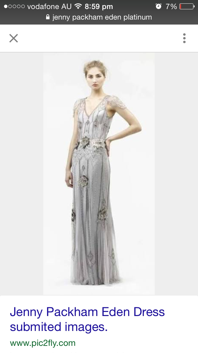 Jenny Packham Eden platinum Used Wedding Dress on Sale 38% Off ...