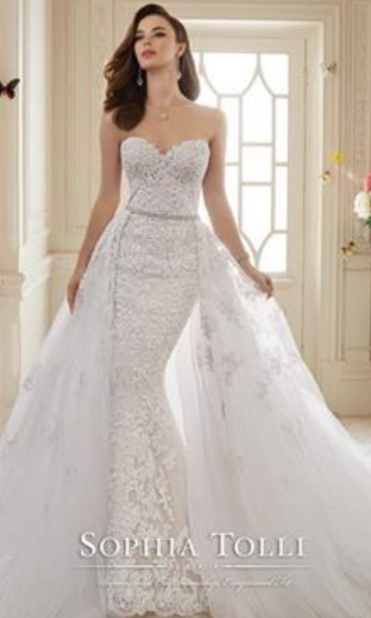 Sophia tolli custom made second hand wedding dress on sale for Second hand wedding dresses for sale